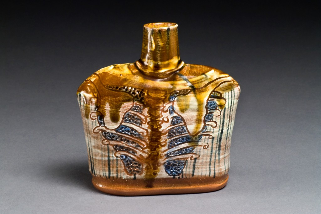 earthenware lungs flask