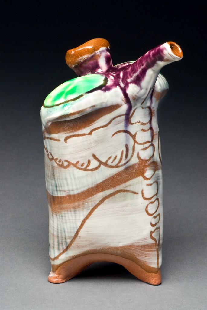 earthenware olive oil jug
