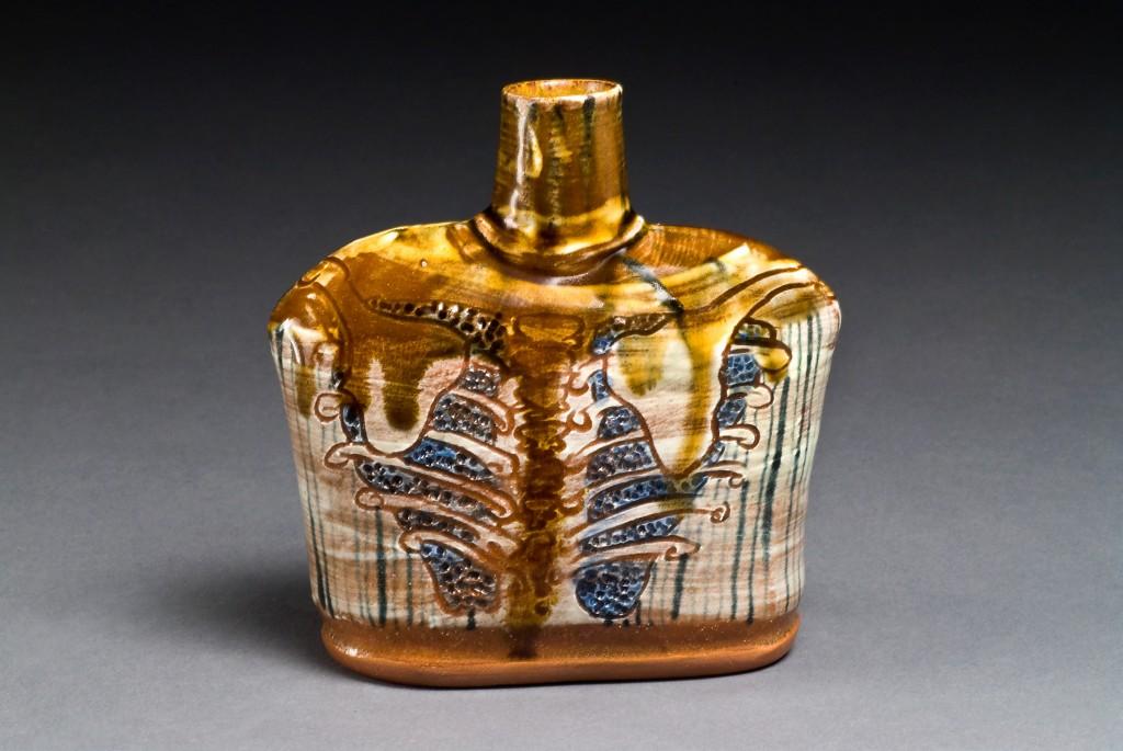 earthenware lungs flask